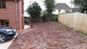 Alison Bockh Garden Design and Landscaping - North Devon - Side area before