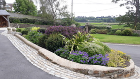 Alison Bockh Garden Design and Landscaping - North Devon - Front entrance and drive now complete