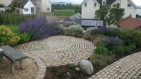 Alison Bockh Garden Design and Landscaping - North Devon - Rear of house seen from Garden house/ granny annexe