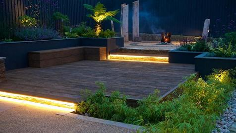Alison Bockh Garden Design - Lit steps make the whole space safe at night and look great!